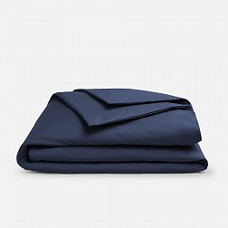 Пододеяльник ALFABED Royal Cotton Satin Mono Navy Blue